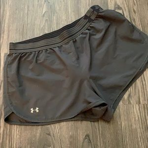 GREY UNDER-ARMOR ATHELTIC SHORTS